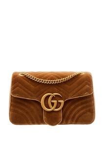 Бежевая сумка GG Marmont Gucci
