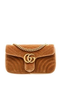 Коричневая сумка GG Marmont Gucci