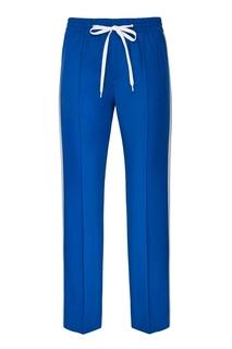 Синие брюки с лампасами Miu Miu