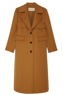 Бежевое шерстяное пальто Valentino