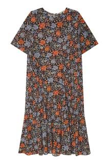 Платье миди с цветочным узором Acne Studios