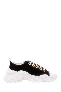 Черно-белые комбинированные кроссовки No21