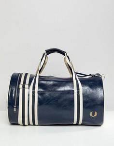 Классическая темно-синяя сумка Fred Perry - Темно-синий
