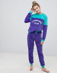 Пижамный комплект Chelsea Peers Do Nothing Club - Темно-синий