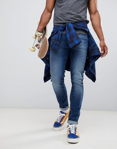 Синие супероблегающие джинсы Lee Malone - Синий