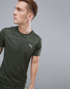 Футболка цвета хаки Puma Running 517242-02 - Зеленый