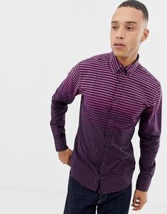 Фиолетовая облегающая оксфордская рубашка BOSS Mabsoot - Фиолетовый