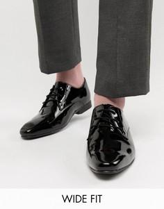 Лакированные туфли дерби для широкой стопы KG by Kurt Geiger - Черный