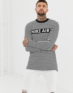 Черный лонгслив в полоску Nike Air 930461-101 - Черный