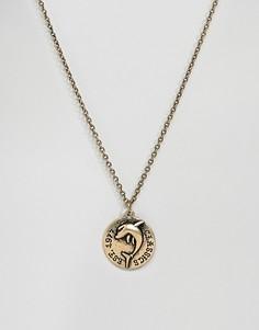 Золотистое ожерелье с подвеской-монетой Classics 77 - Золотой