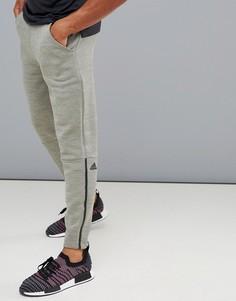 Зеленые меланжевые джоггеры adidas ZNE D74655 - Зеленый