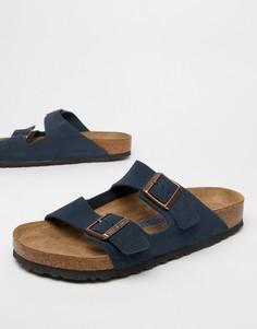Темно-синие замшевые сандалии Birkenstock Arizona - Темно-синий
