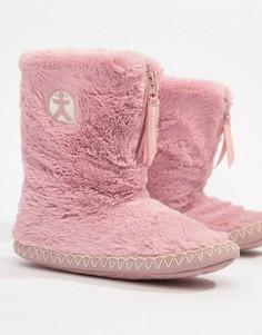 Высокие слиперы из искусственного меха розового цвета Bedroom Athletics Marylin - Розовый