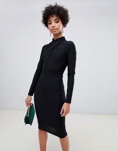 Черное облегающее платье River Island - Черный