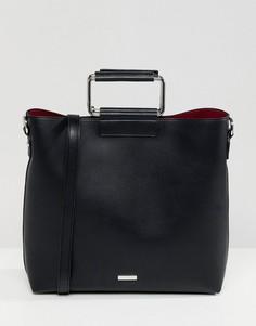 Черная сумка-шоппер с металлической ручкой ALDO Olieni - Черный