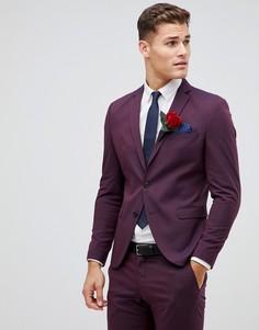 Пиджак скинни Selected Homme Damson - Красный