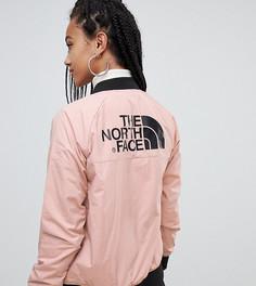 Розовый утепленный бомбер The North Face - Розовый