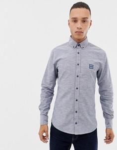 Темно-синяя облегающая оксфордская рубашка на пуговицах BOSS Mabsoot - Темно-синий