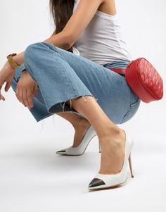 Кожаные туфли-лодочки с металлической отделкой на носке ALDO Edania - Белый