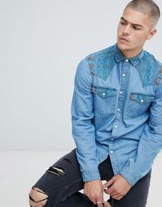 Мужские джинсовые рубашки