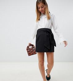 Юбка с завышенной талией и поясом Vero Moda Petite - Черный