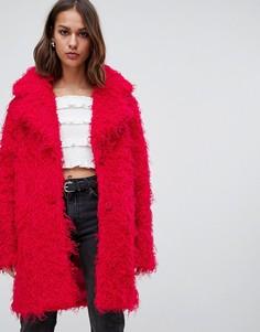 Плюшевое пальто Minimum - Красный
