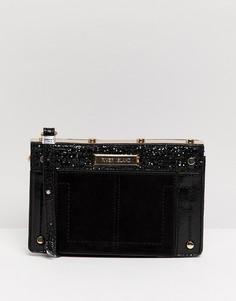 Черная сумка через плечо с карманом River Island - Черный