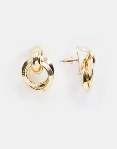 Золотистые серьги-гвоздики River Island - Золотой