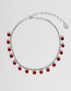 Ожерелье с подвесками и кристаллами Swarovski от Krystal London - Красный