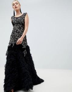 Платье с отделкой Jovani - Черный