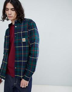 Carhartt WIP Raynor check shirt jacket - Темно-синий