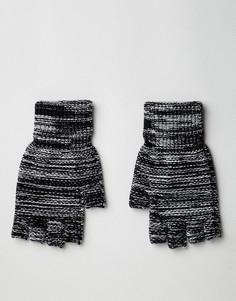 Серые перчатки без пальцев ASOS DESIGN - Серый