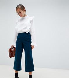 Широкие вельветовые брюки Vero Moda Petite - Синий