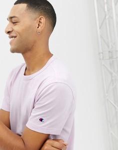 Сиреневая футболка с небольшим логотипом на рукаве Champion - Фиолетовый