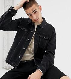 Черная ультраузкая джинсовая куртка Heart & Dagger - Черный