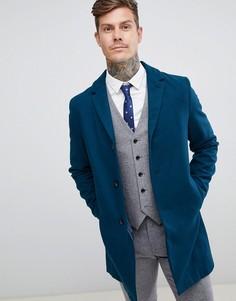 Классическое пальто с добавлением шерсти Harry Brown premium - Синий