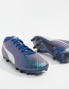 Темно-синие бутсы Puma Football One 4 104749-03 - Темно-синий
