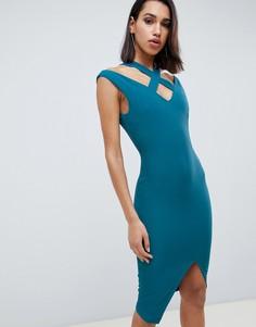 Платье миди с запахом Vesper - Зеленый