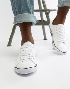 Белые кеды на шнуровке ASOS DESIGN - Белый