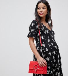 Чайное платье на пуговицах с цветочным принтом ASOS DESIGN Maternity - Мульти