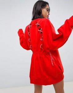 Платье-свитшот с отделкой на спине Tommy Hilfiger X Gigi Hadid - Красный