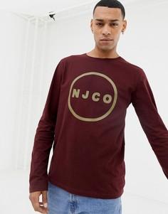 Лонгслив сливового цвета с логотипом Nudie Jeans Co Orvar - Фиолетовый