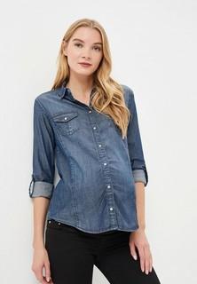 Рубашка джинсовая Мамуля красотуля ..в ожидании чуда