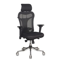 Кресло руководителя БЮРОКРАТ Ch-999ASX, на колесиках, ткань, черный