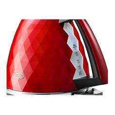 Чайник электрический DELONGHI KBJ 2001.R, 2000Вт, красный Delonghi