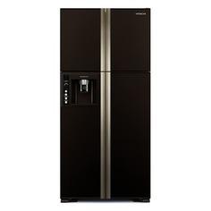 Холодильник HITACHI R-W 662 PU3 GBW, двухкамерный, коричневое стекло