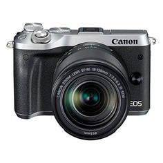 Фотоаппарат CANON EOS M6 kit ( 18-150 IS STM f/ 3.5-6.3), серебристый [1725c022]