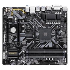 Материнская плата GIGABYTE B450M DS3H, SocketAM4, AMD B450, mATX, Ret