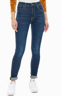 Синие джинсы с заломами 721 High Rise Skinny Levis