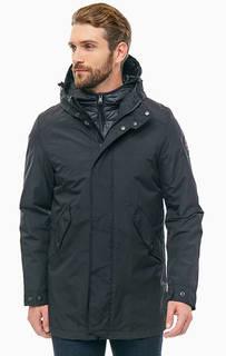 Черная демисезонная куртка с застежкой на молнию и кнопки Napapijri